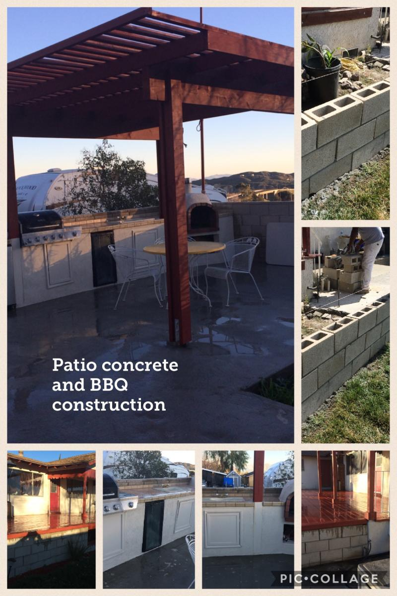 Patio and BBQ and Concrete
